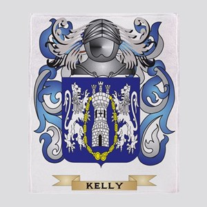 Kelly-(England) Coat of Arms (Family Throw Blanket