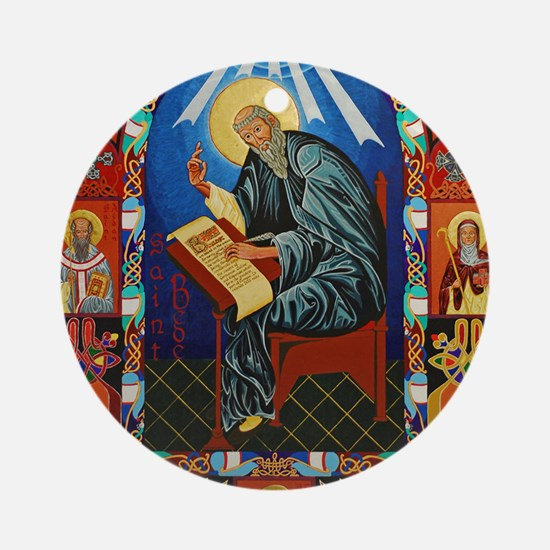 St. Bede Round Ornament
