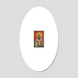 St. Aidan of Lindisfarne (1) 20x12 Oval Wall Decal