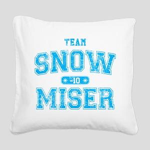 Team Snow Miser Square Canvas Pillow