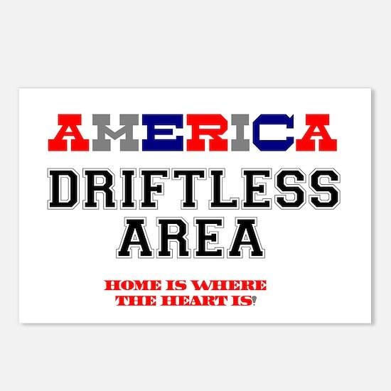 AMERICA REGIONS - DRIFTLE Postcards (Package of 8)