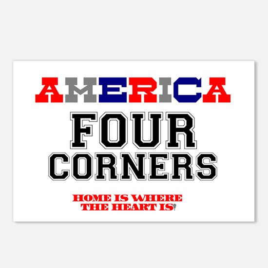 AMERICA REGIONS - FOUR CO Postcards (Package of 8)