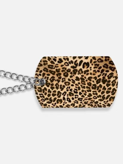 Leopard Gold/Black Print Dog Tags