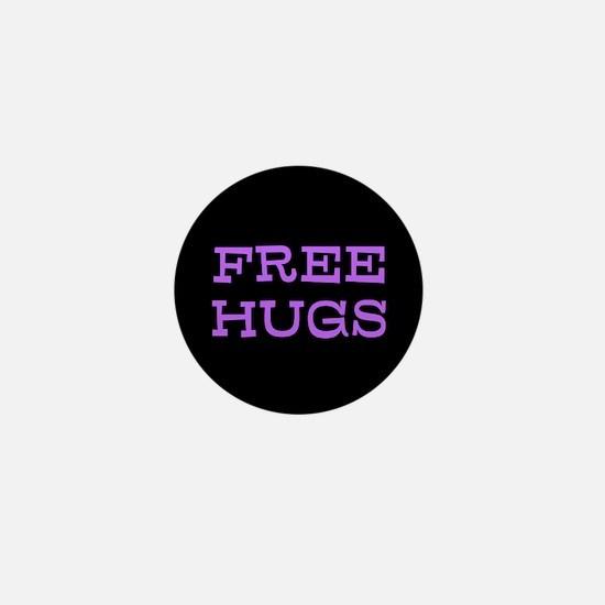 free hugs purple Mini Button