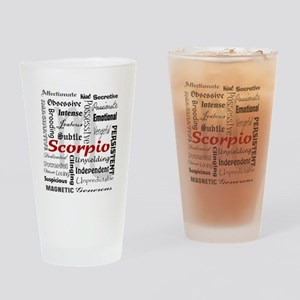 Scorpio Drinking Glass