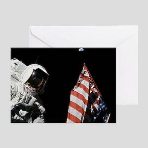 Apollo 17 Flag on Moon Christmas Cards (6)
