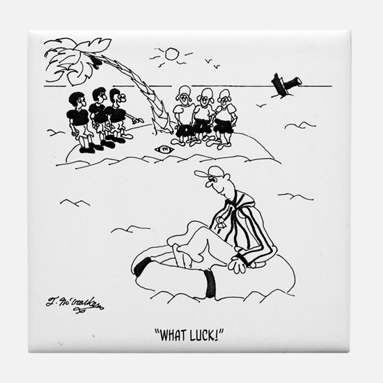 What Luck!  Referee Tile Coaster
