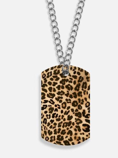 Leopard Wild Cat Print Dog Tags