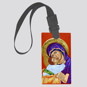 Theotokos and Christ Emmanuel Large Luggage Tag