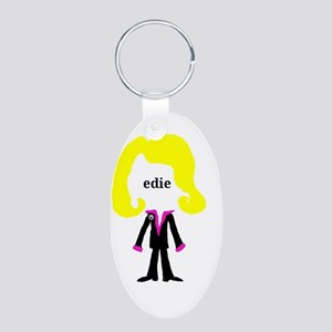 Edie with Pin Aluminum Oval Keychain