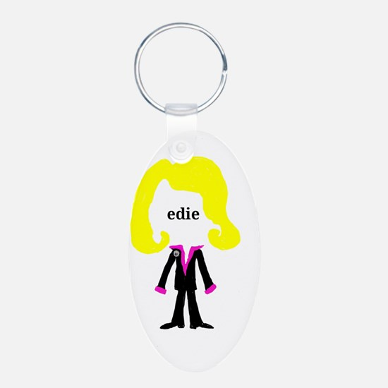 Edie with Pin Keychains