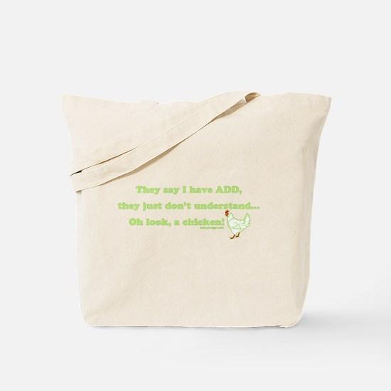 ADD Chicken Humor Tote Bag
