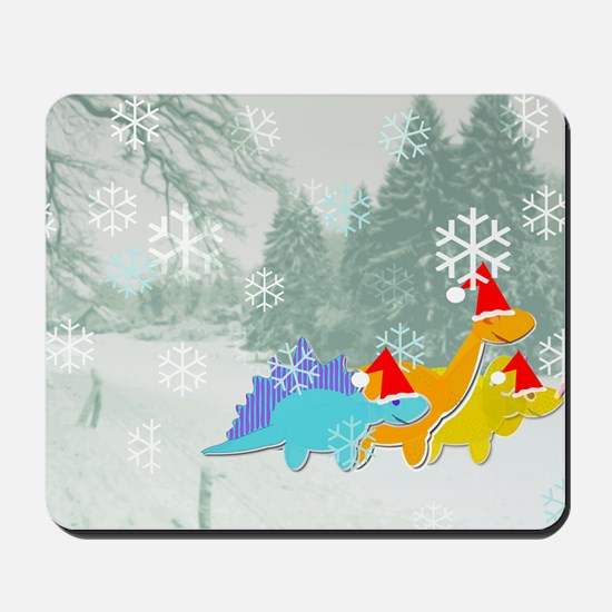 Snow Dinosaurs Mousepad