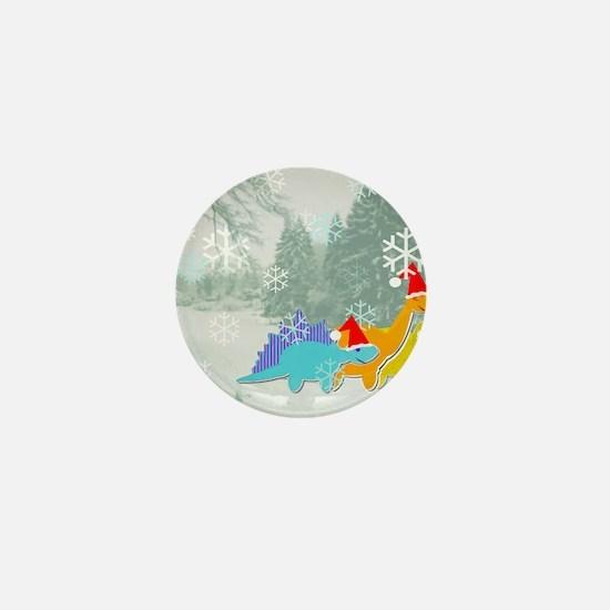 Snow Dinosaurs Mini Button