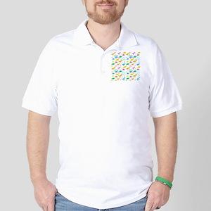 Cute Dinosaurs Pattern Golf Shirt
