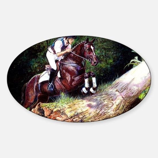 Trakehner Eventing Horse Sticker (Oval)