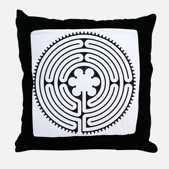 Chartres Essence Labyrinth Throw Pillow