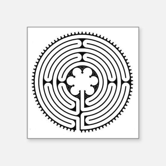 "Chartres Essence Labyrinth Square Sticker 3"" x 3"""