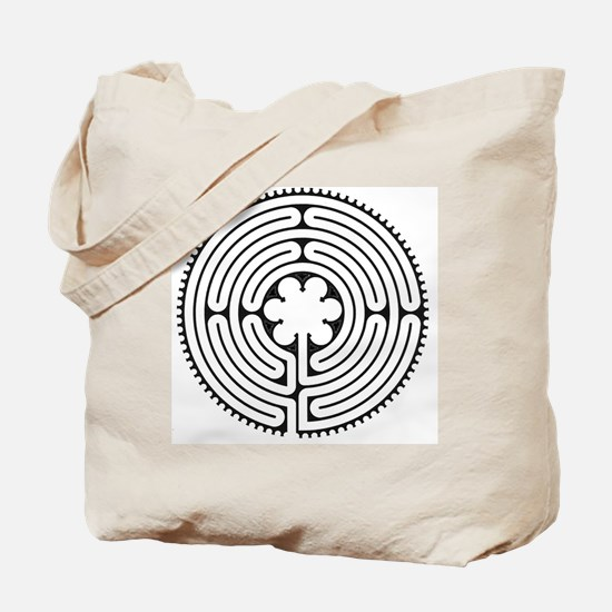 Chartres Essence Labyrinth Tote Bag