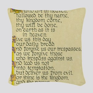Lords Prayer2 Woven Throw Pillow