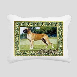 Great Dane Dog Christmas Rectangular Canvas Pillow