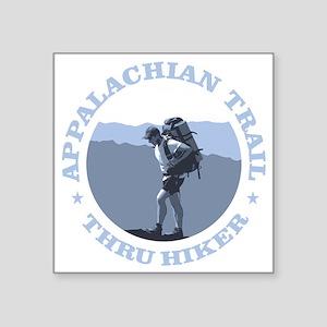 """Appalachian Trail -Thru Hik Square Sticker 3"""" x 3"""""""
