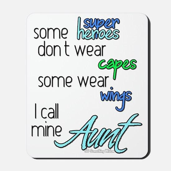 superhero AUNT Mousepad