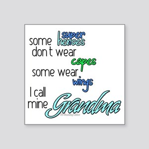 "superhero GRANDMA Square Sticker 3"" x 3"""