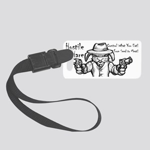 Hostile Hare Small Luggage Tag