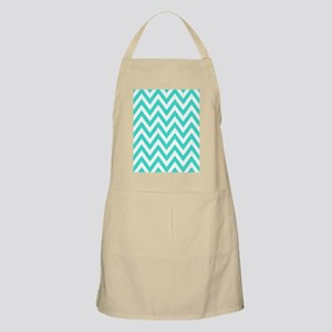 Turquoise and White Chevrons Apron