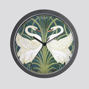 Swan and Rush Wall Clock