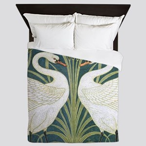 Swan and Rush Queen Duvet