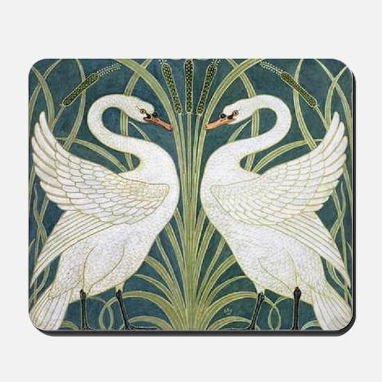 Swan and Rush Mousepad