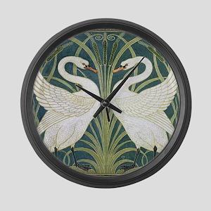 Swan and Rush Large Wall Clock