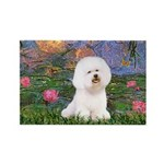 Lilies 4 / Bichon 1 Rectangle Magnet (10 pack)