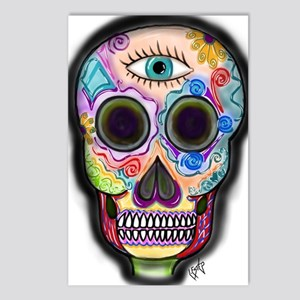 Skull - Eye Postcards (Package of 8)