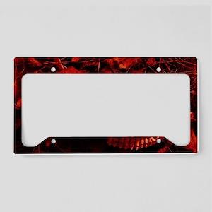 Red Skull License Plate Holder