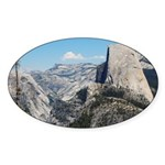 Half Dome in July Oval Sticker