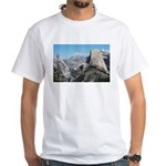 Half Dome in July White T-Shirt