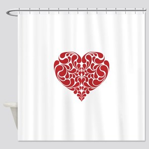 Real Heart Shower Curtain