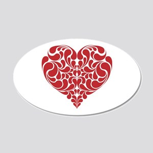 Real Heart 20x12 Oval Wall Decal
