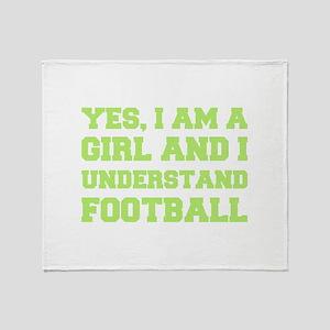 Girl Understands Football Throw Blanket