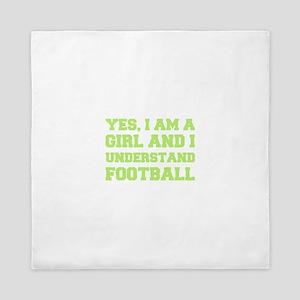 Girl Understands Football Queen Duvet