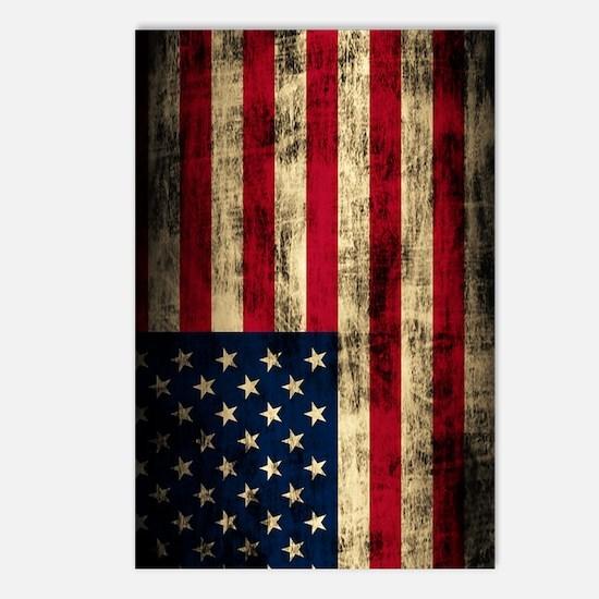 American Flag Grunge Postcards (Package of 8)