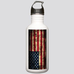 American Flag Grunge Stainless Water Bottle 1.0L