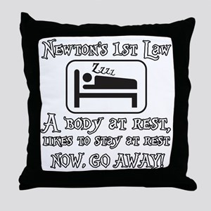 Newtons law of motion - body likes to Throw Pillow