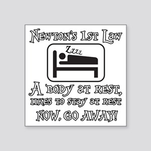 "Newtons law of motion - bod Square Sticker 3"" x 3"""