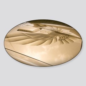 Gold Trans AM Bird Sticker (Oval)