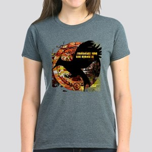 Mockingjay Brick Spotlight Women's Dark T-Shirt