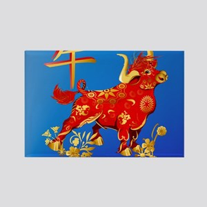 Year Of The Ox Rectangle Magnet